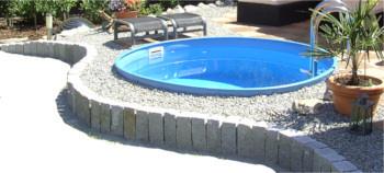 Stahlwandbecken rund runde stahlwandbecken bei for Gartenpool rund
